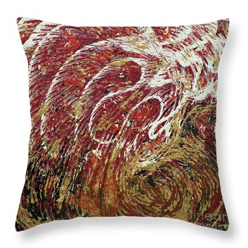 Heartbeat Throw Pillow by Cathy Beharriell