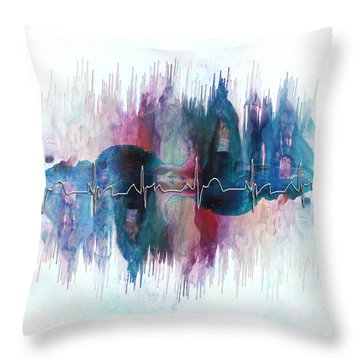 Heartbeat Drama Throw Pillow