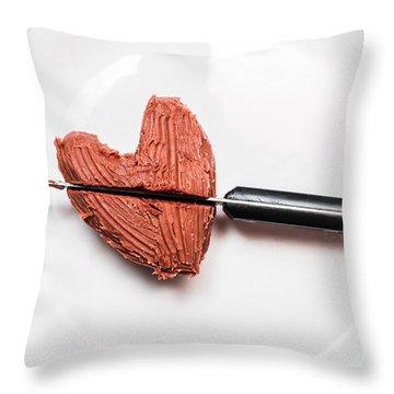 Heartbreak Cake Throw Pillow
