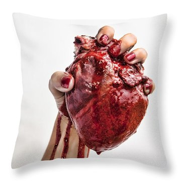 Throw Pillow featuring the photograph Heartbreaker by John Crothers