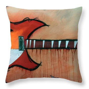 Heartbreaking 12 String Throw Pillow