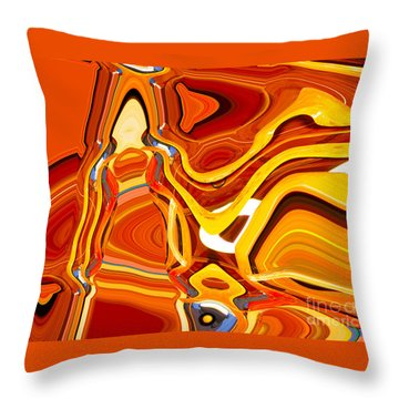 Heartfelt Delivery Throw Pillow by Ann Johndro-Collins