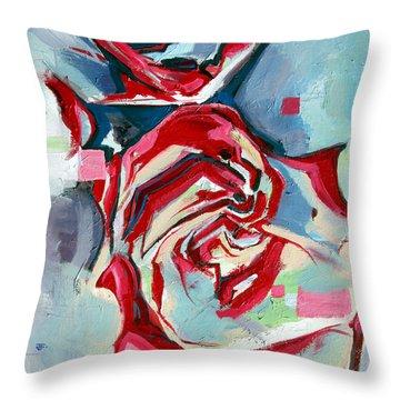 Heartfelt Rose Throw Pillow