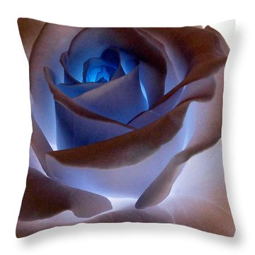Heartglow Rose Throw Pillow
