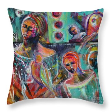 Hearth Of Connection Throw Pillow by Gail Butters Cohen