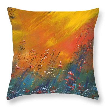 Throw Pillow featuring the painting Heartland  by Dan Whittemore