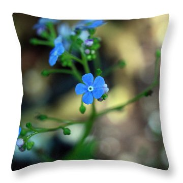 Heartleaf Brunnera Throw Pillow