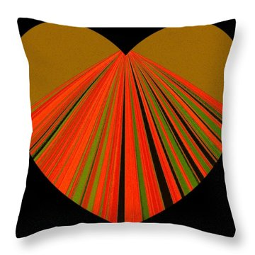 Heartline 5 Throw Pillow