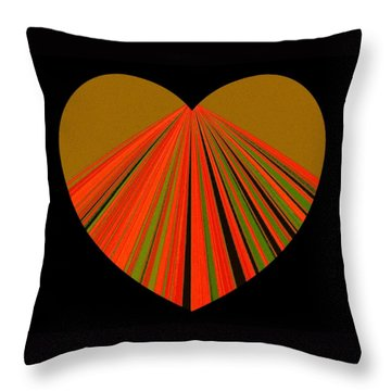Heartline 5 Throw Pillow by Will Borden