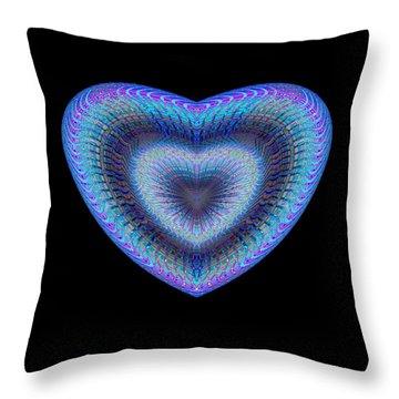 Throw Pillow featuring the digital art Hearts #1 by Visual Artist Frank Bonilla