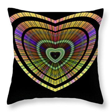 Hearts #21 Throw Pillow
