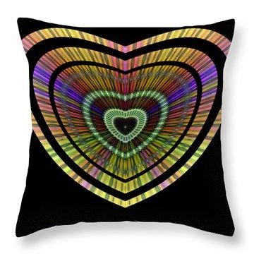 Throw Pillow featuring the digital art Hearts #21 by Visual Artist Frank Bonilla