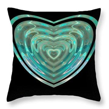Throw Pillow featuring the digital art Hearts #23 by Visual Artist Frank Bonilla