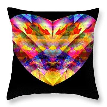 Throw Pillow featuring the digital art Hearts #27 by Visual Artist Frank Bonilla