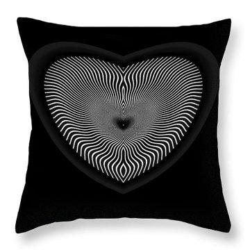 Throw Pillow featuring the digital art Hearts #3 by Visual Artist Frank Bonilla
