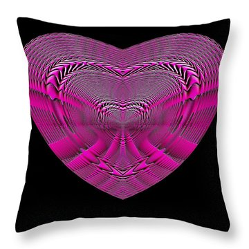 Hearts #4 Throw Pillow
