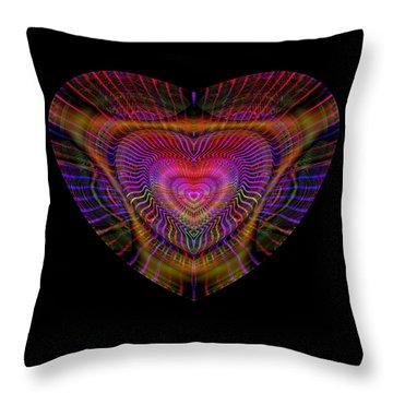 Throw Pillow featuring the digital art Hearts #5 by Visual Artist Frank Bonilla