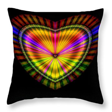 Throw Pillow featuring the digital art Hearts #9 by Visual Artist Frank Bonilla