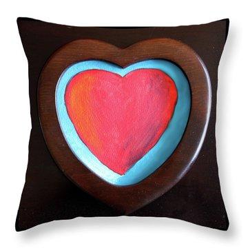 Hearts Afire Throw Pillow