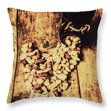 Hearts And Spills Throw Pillow
