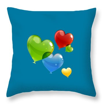 Hearts 11 T-shirt Throw Pillow by Herb Strobino