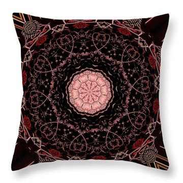 Hearts Forever Throw Pillow by Natalie Holland