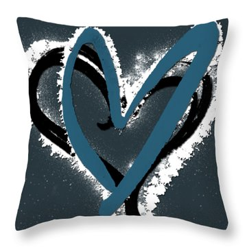 Hearts Graphic 8 Throw Pillow