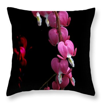 Throw Pillow featuring the photograph Hearts In The Dark by Susan Capuano