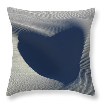 Hearts In The Desert Throw Pillow