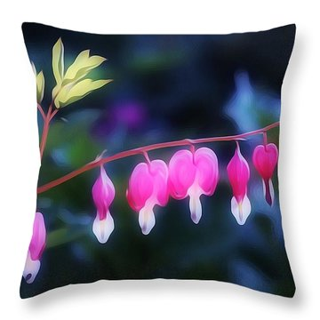 Hearts In The Dusk Throw Pillow