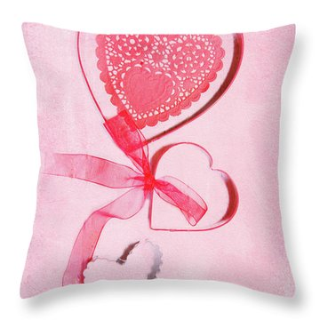 Throw Pillow featuring the photograph Hearts by Rebecca Cozart
