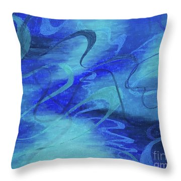 Heartsong Blue 1 Throw Pillow