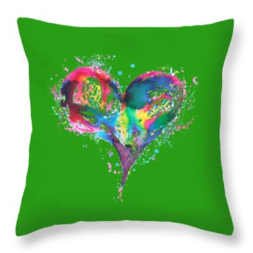 Hearts 6 T-shirt Throw Pillow by Herb Strobino