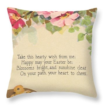 Hearty Wish Throw Pillow by David and Lynn Keller