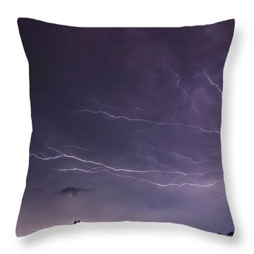 Heat Lightning Throw Pillow