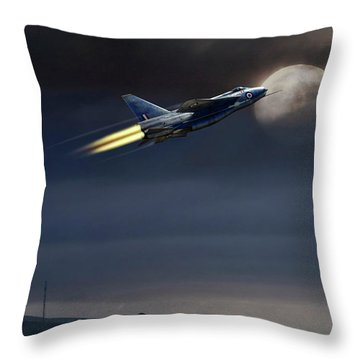 Throw Pillow featuring the digital art Heat Of The Night by Peter Chilelli
