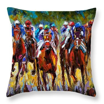 Heated Race Throw Pillow