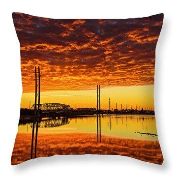 Swing Bridge Heat Throw Pillow