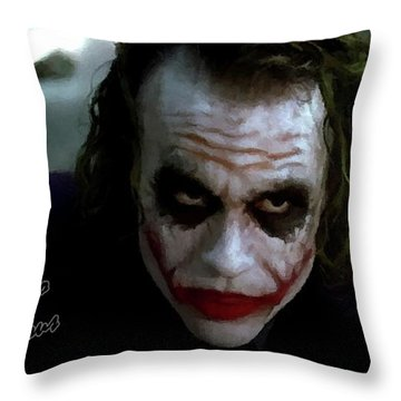 Heath Ledger Joker Why So Serious Throw Pillow