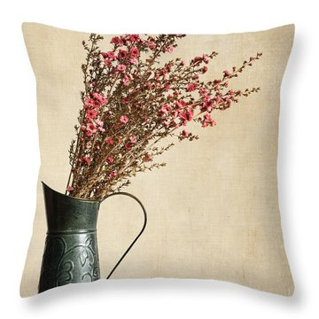 Heather And Oranges Throw Pillow