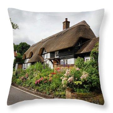 Heather Cottage Throw Pillow