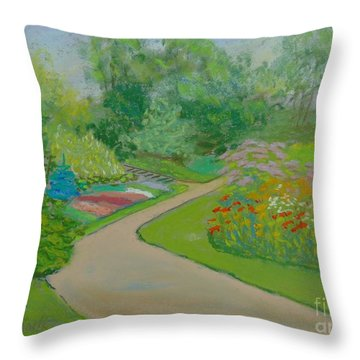 Heather Gardens Throw Pillow