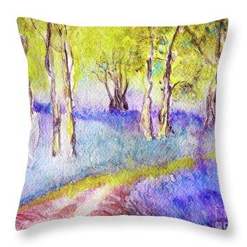 Heather Glade Throw Pillow by Jasna Dragun
