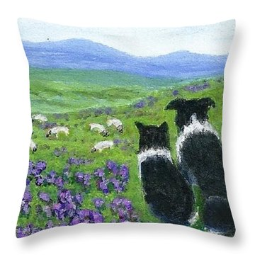 Heather Hills Watch Throw Pillow