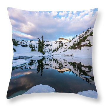 Heather Meadows Reflection Cloudscape Throw Pillow