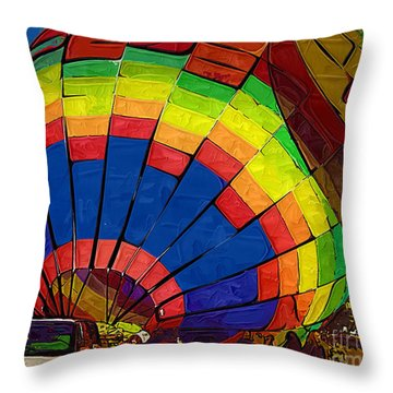 Throw Pillow featuring the digital art Heating Up by Kirt Tisdale