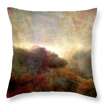 Heaven And Earth - Abstract Art Throw Pillow