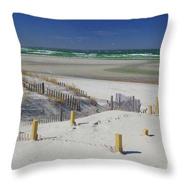 Heaven At Mayflower Beach Throw Pillow