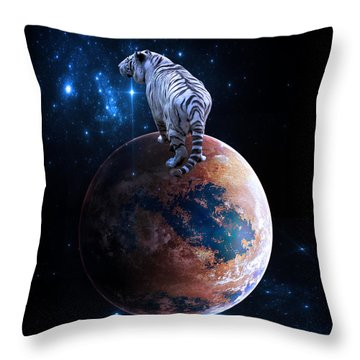 Heaven Help Us All Throw Pillow