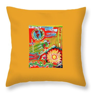 Heaven On Earth Throw Pillow by Genevieve Esson